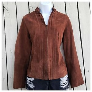 Chico's Fitted Leather Jacket